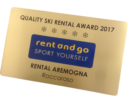 Rent and Go prize label