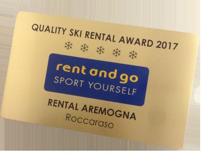 Targa premio Rent and Go